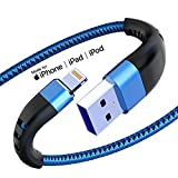 Apple MFI Certified 3 Pack iPhone Charger 10ft, Essri Long Lightning Cable Strong Nylon Braided Charging Cable 10 Foot, Fast iPhone USB Cord for Apple iPhone11/ X/XS/XR/8/7/6/5S/SE/iPad Mini Air(Blue)