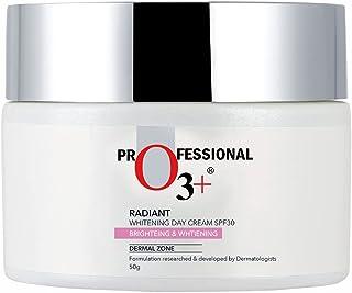 O3+ Radiant Brightening & Whitening Day Face Cream SPF 30 for Sun Protection, Dark Spots Reduction & Moisturised Skin, 50g