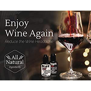 Drop It Wine Drops, 2 Pack – Natural Wine Sulfite Remover and Wine Tannin Remover – Enjoy Wine Again, Works in Just 20 Seconds – Portable and Discreet – A Wine Filter or Wine Wand Alternative