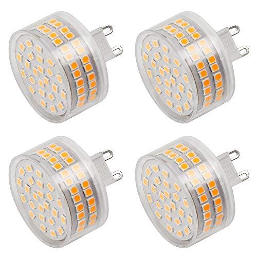 MENGS 4 lampadine LED G9, 800 lm, 12 W, sostituisce lampadine alogene da 95 W, 3000 K, luce bianca calda, angolo di diffusione: 360°, CRI>80, AC 220-240 V