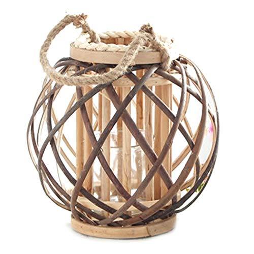 Kamenda Soporte para sala de estar, resistente al viento, para manualidades, festival, decoración del hogar, redondo, para boda, vintage, candelabro pequeño