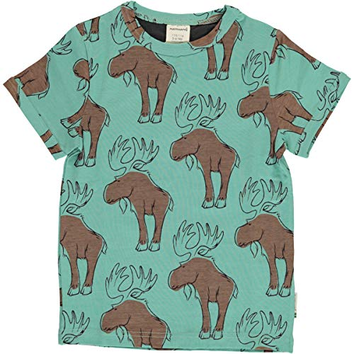 Maxomorra T-Shirts SS Top Mighty Moose Elche (134/140)