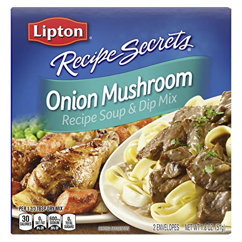 Lipton Soup and Dip Mix For a Delicious Meal Onion Mushroom Great With Your Favorite Recipes, Dip or Soup Mix 1.8 oz