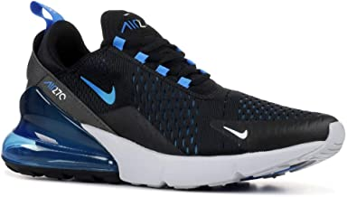 Nike Mens Air Max 270 Running Shoes Black/Photo Blue/Pure Platinum AH8050-019 Size 10