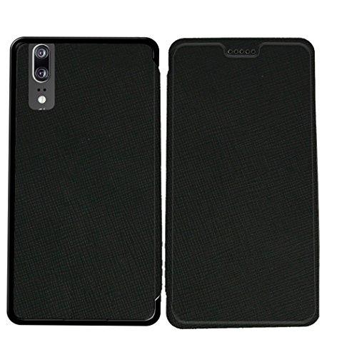 Case-Industry Mobilefashion Custodia Protettiva Case Cover per Huawei P20 - Esterno modello Noir Royal Collection Exception Cuoio PU