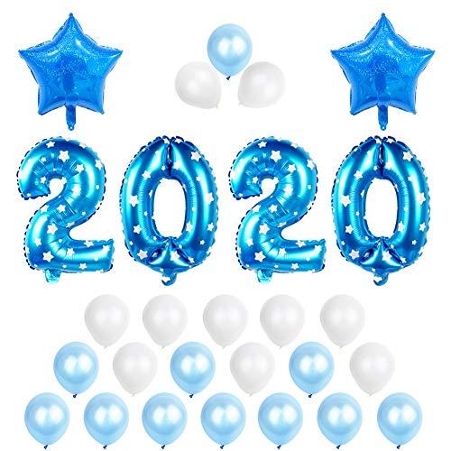 DishyKooker 2020 neues Jahr-Ballon-Fahnen-Hintergrund-Dekoration für Hauptwand 11 Haushalt