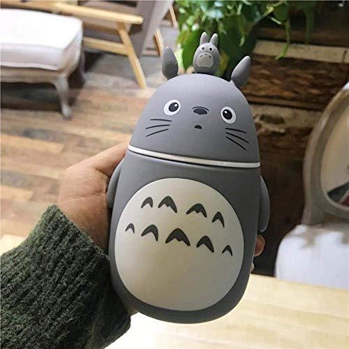 ZFLY-JJ Isolierte Edelstahl Wasservakuumflasche Flasche Kreative Nette Totoro Tragbare Thermosflasche Cartoon Wasser Tasse Anime,B248ml