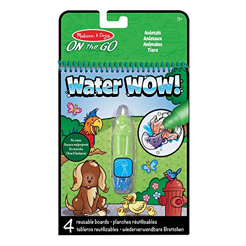 Melissa & Doug- Water Wow Animals Blocco da Scoprire con Acqua, Multicolore, 5376