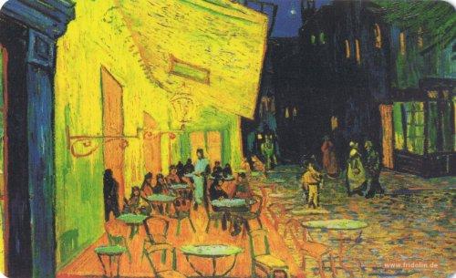 Fridolin Frühstücksbrettchen Van Gogh-Cafe de nuit, Kunststoff, bunt, 23.5x0.2x14.5 cm