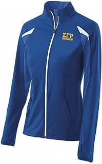 Sigma Gamma Rho Sorority Greek Letter Tumble Jacket with Full Zipper – Royal Blue