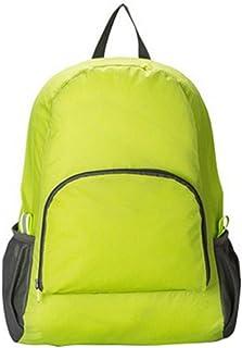 Mochila plegable unisex de viaje, mochila multifuncional, ligera de nailon, impermeable, mochila de día para exterior, senderismo, viajes, camping, verde, color verde, tamaño 30 x 16 x 42 cm