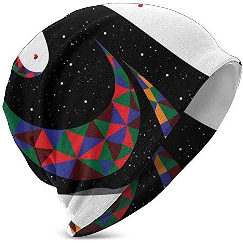 GodYo Kids Soft Slouchy Beanie Baggy Skull Hat, kleurrijk surreal kostuum en Venetiaans masker Opera Performance Inspire, Teen Knit Cap