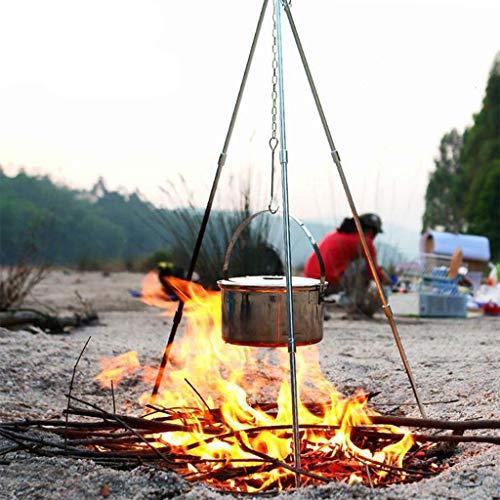 planuuik Outdoor Camping Picknick Kookstatief Hangende Pot Duurzame Draagbare Kampvuur Picknick Pot Gietijzeren Fire Grill Hangende Statief