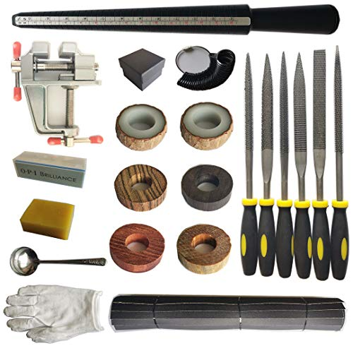 DEUXPER Sandalwood Ring Craft Kit - DIY Make Your Own Jewelry Ring - Craft...