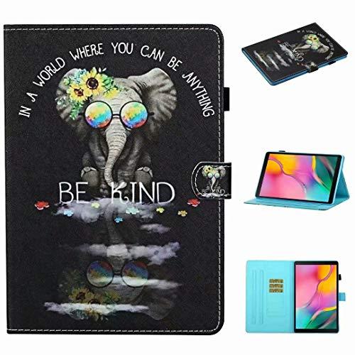 Funda para Samsung Galaxy Tab A 10.1 2019 (SM-T510 / SM-T515), de piel sintética, función de soporte, con ranura para tarjetas, con soporte para bolígrafo, funda protectora para tablet