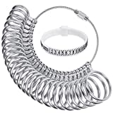 OWUDE Ring Sizer Gauge Set,Finger Measurement Tools and Bonus Plastic Ring Sizer Belt,Jewelry Sizing Tools US 0-13 Standard for Women and Men.