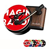 Car Vent Clip Perfume with 6 Tablets Retro Style Record Player - Car Fragrance Diffuser- Automotive Air Freshener, Vent Outlet Diffuser , 6 Aromatherapy Tablets Included, Black