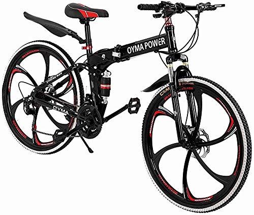 SYCY Bicicleta de montaña Todoterreno 21 velocidades 26 Bicicleta de Freno de Disco Doble Plegable Bicicleta de Carretera Bicicleta de Ciudad Bicicleta de Ejercicio Bicicleta Ligera para Exteriores