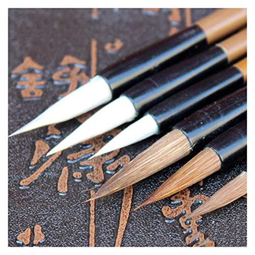 Pincel Escritura,6 unids/Set Pincel caligrafía Pincel Escritura Chino Pincel Pintura Artista Dibujo Pinceles Pintura Acuarela Suministros Escolares Bolígrafos