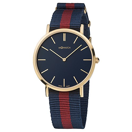 M WATCH Swiss Made Smart Casual Orologio da uomo/donna, Quadrante blu cassa...