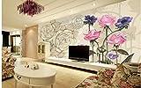 Fotomurali 3D Papel tapiz fotográfico 3D personalizado murales de pared 3D papel tapiz Flor mural Jane Europa sentimientos amorosos de la decoración de papel tapiz de diseño mural