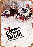 Dahlrice 8X12 Inch Metal Sign 1968 Evinrude Skeeter Snowmobiles Vintage Look