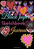 BLACK PAPER Sketch Book & Journal: A Journal And Sketchbook For Girls With Black Pages | Gel Pen Paper, black pages journal, pastel paper, 7'×10'