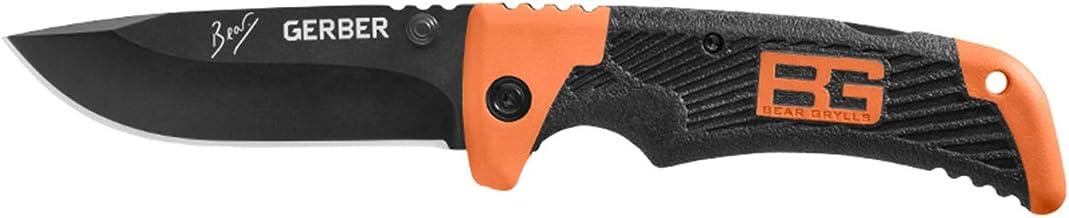 Gerber Bear Grylls SCOUT BLACK FE, 7Cr17MoV Stahl, TacHide Griffmaterial, Back Lock, Edelstahl-Clip
