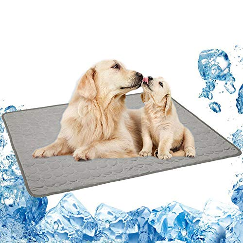 BiBOSS Pet Cooling Mat for Dog Puppy Cat Washable Cooling Pad, Reusable Ice Silk Dog Self Cooling Mat, Pet Sleeping Pad Blanket for Pet Beds Kennels Couches Sofa Floors Car Seats