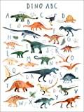 Poster 50 x 70 cm: Fröhliches Dinosaurier ABC von Victoria
