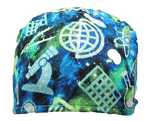 Chemistry at It's Best Scrub Hat for Men and Women with Tie Back Closure