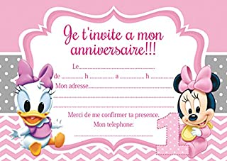 Amazonfr Carte Invitation Anniversaire Blanc