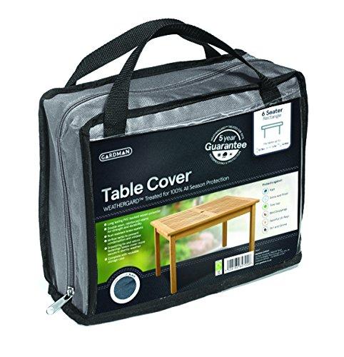 Gardman 35967 6 Seater Rectangular Table Cover, Grey