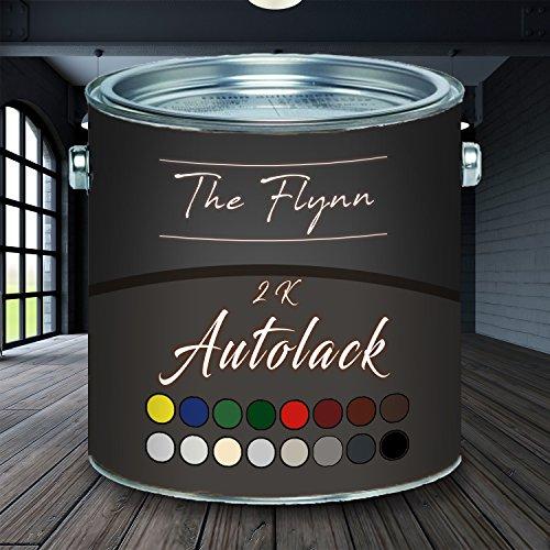 The Flynn hochwertiger 2-Komponentenlack Autolack/Landmaschinenlack mit passendem Härter - glänzend - Farbauswahl (RAL 9005 Schwarz, 1 L)
