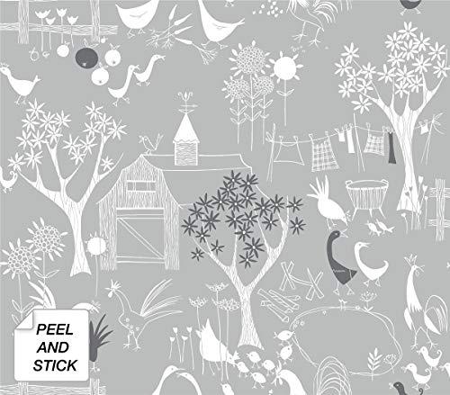 NextWall Rise and Shine Scandinavian Peel and Stick Wallpaper