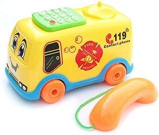 Vibolaa Baby Toys Music Cartoon Bus Phone Educational Developmental Kids Toy Gift