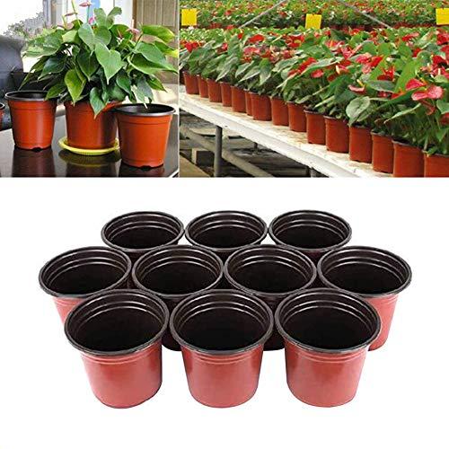 KUOZEN Macetas Plastico Grande Macetas Plastico Pote de Flor Planta de Marihuana Pequeñas Macetas La Planta Macetas pequeñas para Interior 5.9inch,10pcs