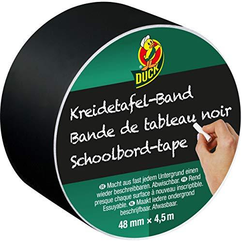 DUCK 105-00 Klebeband Kreidetafel – Beschreibbares Klebeband zum Dekorieren, Ordnen, Basteln & Beschriften – 47mm x 4,5m