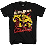 WWE Boys Daniel Bryan Shirt - Yes, Yes, Yes Superstar Tee - World Wrestling Champion T-Shirt (Black, Small)