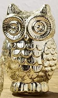 Market Street Silver Mercury Glass Owl - Home Accent Decor