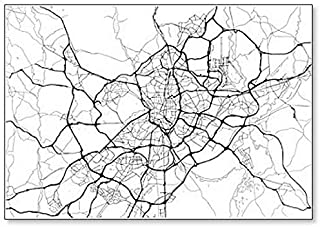 City Map of Madrid, Spain Classic Fridge Magnet