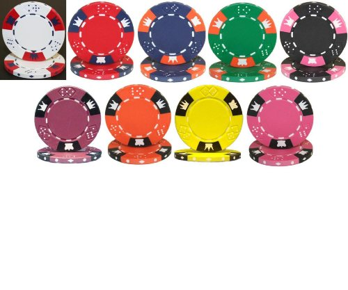 Fantastic Prices! Crown & Dice 1000 Clay 14g Bulk Poker Chips - Choose