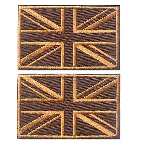 2 parches bordados con bandera británica de Reino Unido, bandera de Inglaterra, insignia táctica, para coser en los parches de la moral, emblema de la moral
