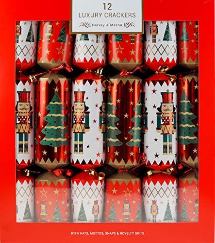 Widdle Wonderland 5015302160524 12 Pack Weihnachten Knallbonbons Family 34cm Nussknacker rot weiß