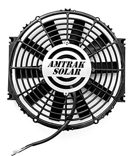 """Amtrak Solar Powerful Attic Exhaust Fan Quietly Cools your House Ventilates your house, garage or RV and protects against moisture build-up (12"""" Fan Only)"""