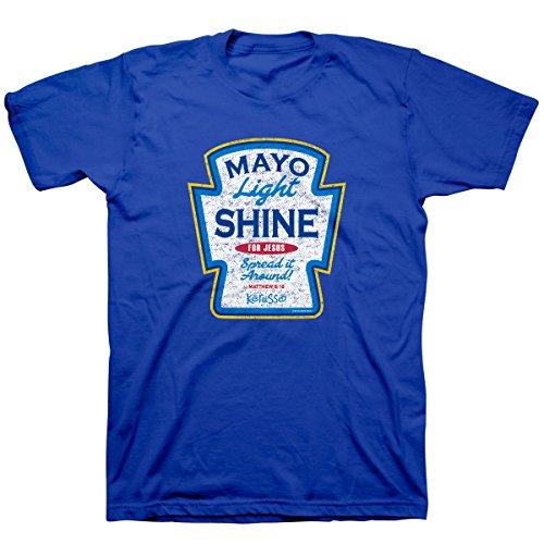Kerusso Adult T-Shirt - Mayo Light Shine LG Christian T-Shirt,Royal Blue,Large
