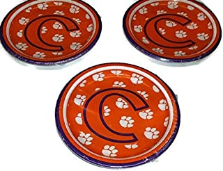 Clemson Tigers Dessert Paper Plates (24 Count) Bundle
