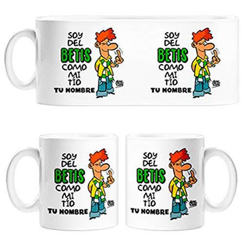 Diver Tazas Taza Frase Soy del Betis como mi tio Personalizable con Nombre ilustrado por Jorge Crespo Cano - Cerámica