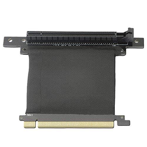 GINTOOYUN PCI-E 16 x Riser-Karte, PCI Express 3.0 16 x Verlängerungskabel, 90 Grad Hochgeschwindigkeits-Riser-Karte -70 mm