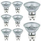 Lampadine Alogene a Faretto GU10 50W 230V Luce Calda Dimmerabile 8 Pezzi